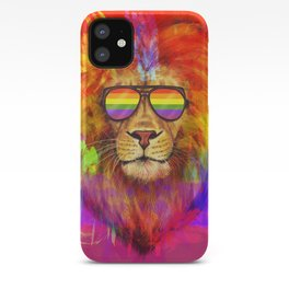 Rainbow Lion Pride iPhone Case