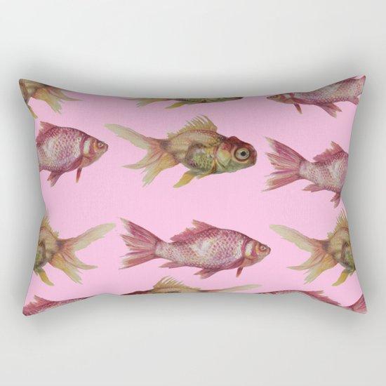 fish pink  Rectangular Pillow