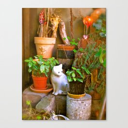 French Garden House Canvas Print