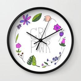 Girl Power Wall Clock