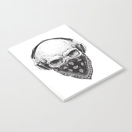 Skull in Headphones Notebook