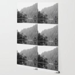 Historic Mattawa River in Black and White Wallpaper