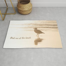 Meet Me at the Beach (typography) Rug