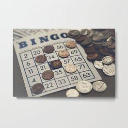 Vintage Bingo Board Game 7 Metal Print