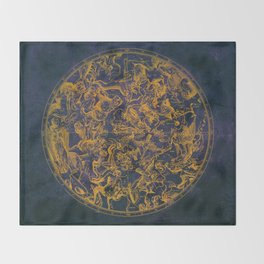 Vintage Constellations & Astrological Signs | Purple Galaxy Throw Blanket