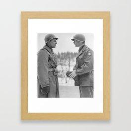 Generals Ridgway and Gavin - Battle of the Bulge Framed Art Print