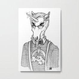 Ironic Hipster Unicorn Metal Print