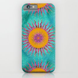 Magic Sun Mandala In Bold Colors iPhone Case