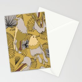 Birds of Prey in Yellow Stationery Cards