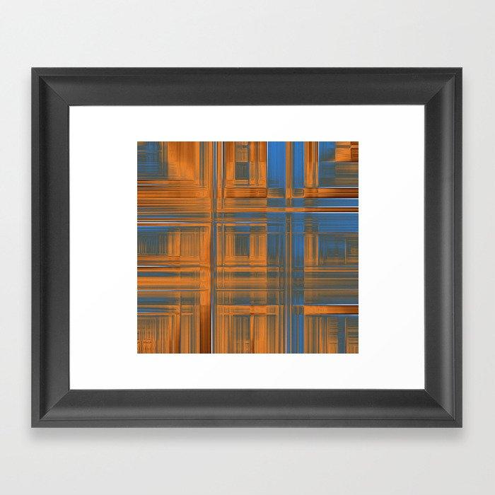 autumn lines Framed Art Print