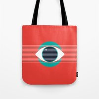 evil eye Tote Bags featuring Evil Eye by smoraes