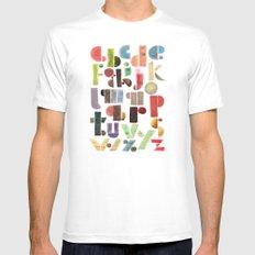 The Alphabet - by Genu WORDISIAC™ TYPOGY™ MEDIUM Mens Fitted Tee White