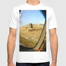Snap Shot Out The Car Window Mens Fitted Tee White MEDIUM