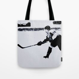 He shoots, He scores! - Hockey Player Tote Bag