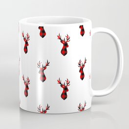 Tartan Stag Head Pattern Coffee Mug