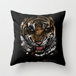 Tiger Face (Signature Design) Throw Pillow