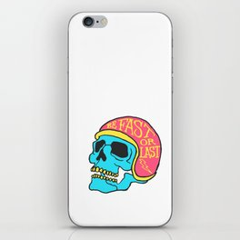 fast or last color iPhone Skin