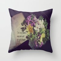 les miserables Throw Pillows featuring Books Les Miserables by KimberosePhotography