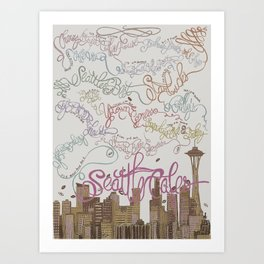 Coffee Wonderland Art Print