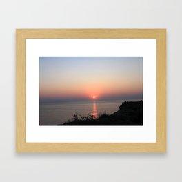 Menorca Sunset Framed Art Print