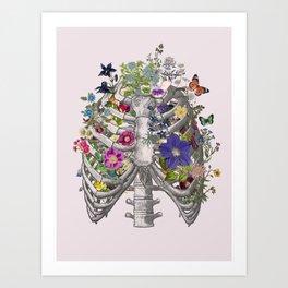 Ribs and flowers Art Print