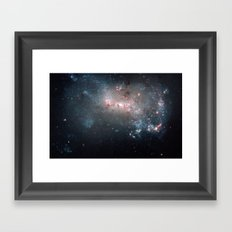 Starburst - Captured by Hubble Telescope Framed Art Print