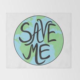 Save Me Earth Hand Drawn Throw Blanket