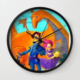Space Charachters Wall Clock