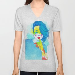 Colorful Kaya Unisex V-Neck