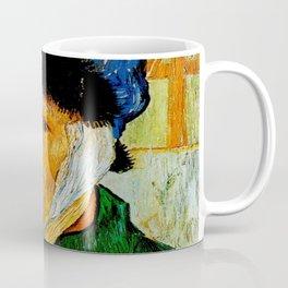 Van Gogh, Self-Portrait with Bandaged Ear and Pipe  – Van Gogh,Vincent Van Gogh,impressionist,post-i Coffee Mug