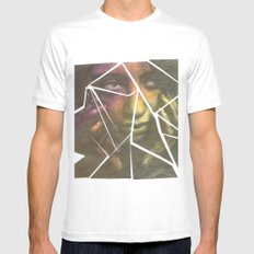 Shatter MEDIUM White Mens Fitted Tee
