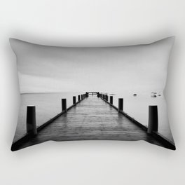 """""""ghost"""" boats on Lake Tahoe after a storm Rectangular Pillow"""