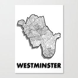 Westminster - London Borough - Simple Canvas Print