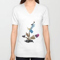 cactus V-neck T-shirts featuring Cactus by Mahoney-Mahoney