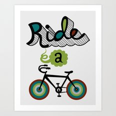 Ride a Bike 3  Art Print