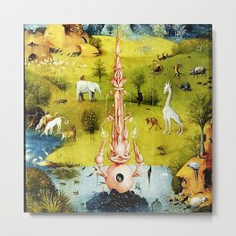 Bosch Garden Of Earthly Delights Panel 1 - Eden Metal Print