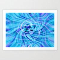 pivot Art Prints featuring Blue twirl by AvHeertum