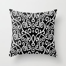 Hearted Elegance Throw Pillow