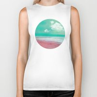 silent Biker Tanks featuring SILENT BEACH by INA FineArt