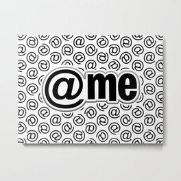 At Me Pattern (black on white version) Metal Print