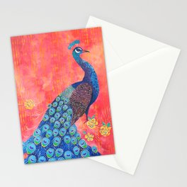 Peacock - Colour Me Happier Stationery Cards