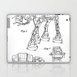 At At Walker Patent - At-At Walker Art - Black And White Laptop & iPad Skin