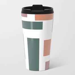 Color Blocks Metal Travel Mug
