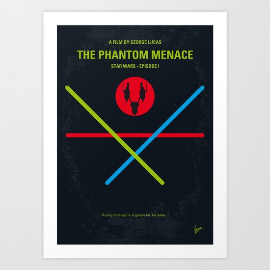 No223 My Star E-I minimal movie poster wars Art Print