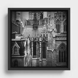 Manhattan Rooftops Framed Canvas