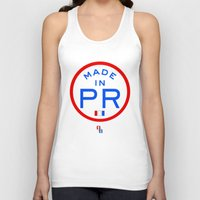 puerto rico Tank Tops featuring Made in PR - Puerto Rico by DCMBR - December Creative Group