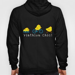 Funny Triathlon Chick Triathlete  Hoody