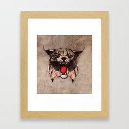 Savage Bobcat Framed Art Print