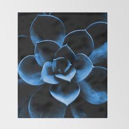 Dark Blue Succulent Plant #decor #society6 #homedecor Throw Blanket