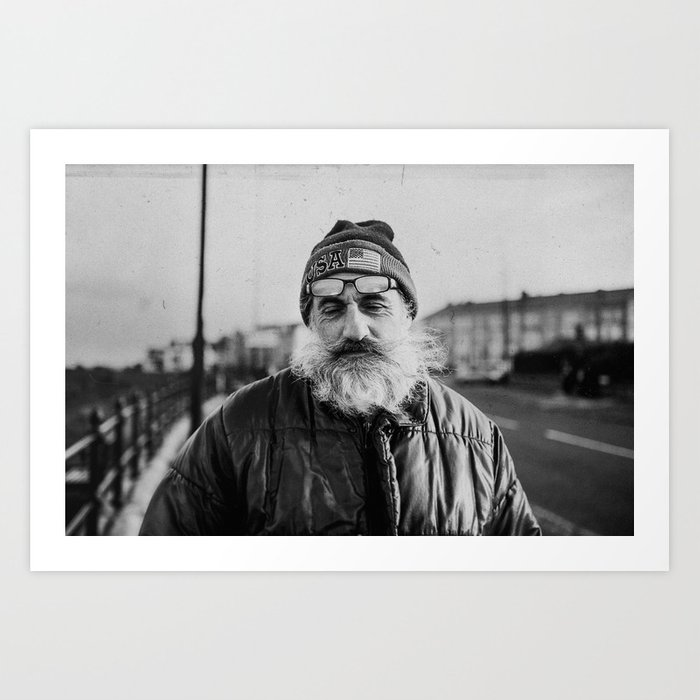 Fisherman's portrait Art Print